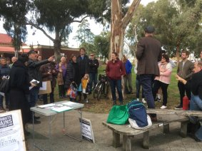 Gandolfo Gardens Rally at Moreland Station