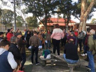 Gandolfo Gardens Rally at Moreland Station