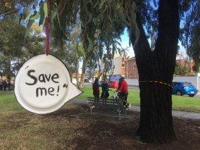 Save Me - Gandolfo Gardens Rally at Moreland Station