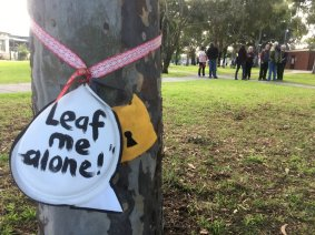 Leaf me alone - Gandolfo Gardens Rally at Moreland Station